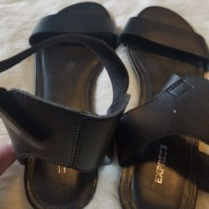 Express  Black Sandals Size 10 Buckle Ankle New